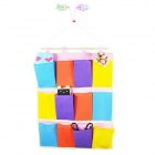 High Quality Non-woven Fabric Colorful Hanging Storage Bag - Multicolored