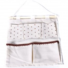 Creative Lovely Japanese Style Double Layer Five Bags Hanging Storage Bag - Beige