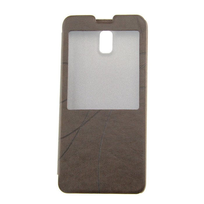 Protective PU Leather Case for Samsung Galaxy Note 3 - Dark Coffee