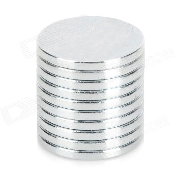 LSON Round NdFeB Magnets - Silver (10 PCS) numbers and math symbols magnets set 26 pcs