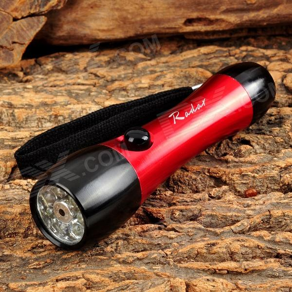 Radar 1001 35lm 7-LED White + 1-Red Laser Flashlight - Red + Black (1 x AA)