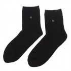 enbl Net Color 100% Cotton Men's Socks - Black (Pair)