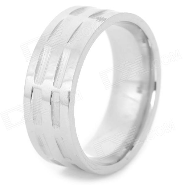 SHIYING jz014 Men's Stylish 316L Stainless Steel Ring - Silver