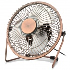 Lileng 819 Mini USB Powered 3-Blade 1-Mode Fan - Bronze + Silver