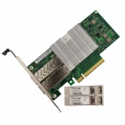 Winyao E10G82599SF SFP + 10G dobbel Port Fiber server nettverk Card Adapter Intel JL82599ES-brikkesett