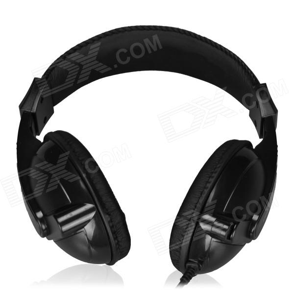 Feinier FE-921 3.5mm Plug Stereo Headset w/ Retractable Microphone - Black(206cm) high quality gaming headset with microphone stereo super bass headphones for gamer pc computer over head cool wire headphone