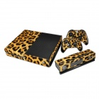 Pacers Leopard Pattern Dustproof Waterproof Protect Sticker for Xbox One Console Controller Kit