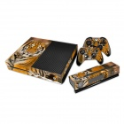 Pacers Tiger Pattern Dustproof Waterproof Protect Sticker for Xbox One Console Controller Kit