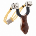X025 Wood Slingshot Camping Outdoor Slingshot - Brown