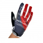 Handskin Silica Gel Bicycle Full-finger Gloves - Red + Grey + Black (Size L)