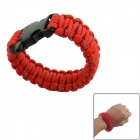 Survival Reflective Bracelet w/ Whistle - Red