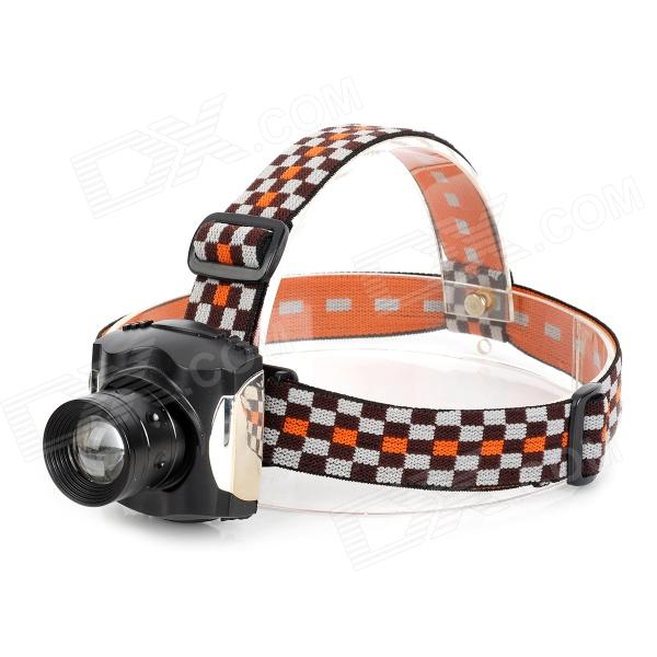 SLH SLH-H807 LED 80lm 3-mode réglable télescopique Cool White Light Headlamp - noir