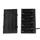 DIY 12V 8 x AA Battery Holder Case Box with Leads / Switch / DC Jack - Black