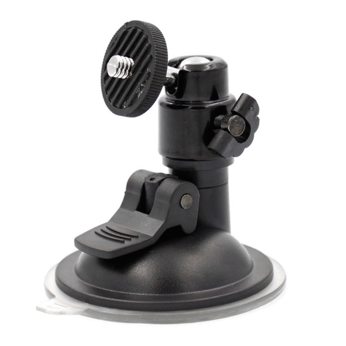 Universal 360 Degrees Swivel Convenient Suction Cup for Car GPS / DV / Camera - Black universal car suction cup mount bracket holder stand for samsung galaxy note 3 more black