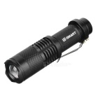 Rotating Zoom LED 900lm 3-Mode Cold White Light Flashlight - Black(1 x 18650)