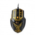 JEWAY JM1202 USB 2.0 Wired LED 800 / 1200 / 1600 / 1800dpi Gaming Mouse - Brass + Black