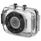 "D10 1.77"" LCD 720p 1.3MP 4X Digital Zoom DVR Camcorder w/ Waterproof Case - White + Black"