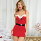LC872366 Naughty Nite Nice Christmas Dress for Women - Red (Free Size)