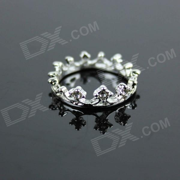 Stylish Crown Style Zinc Alloy Women's Ring - Silver