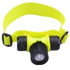 RichFire SF-602 LED 200lm 3-Mode Diving Headlamp - Yellow (1 x 18650 / 3 x AAA)