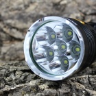 KINFIRE K60X 6-LED 3000lm 3-Mode White Flashlight - Black (4 x 18650)