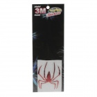 Creative Spider Pattern Car Decoration Sticker - Red