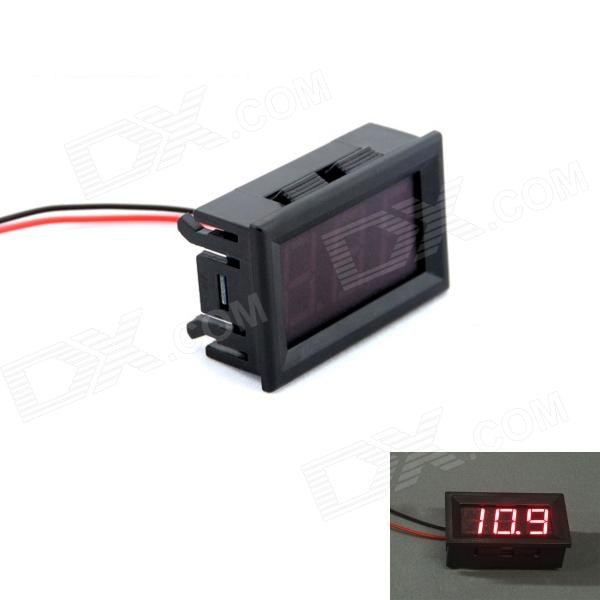 Фото 3-digit 0.56' Red LED 3.5-30V DC Voltage Meter w/ High and Low Voltage Flash + Buzzer Alarm - Black 110db loud security alarm siren horn speaker buzzer black red dc 6 16v