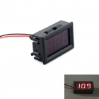 3-digit 0.56'  Red LED 3.5-30V DC Voltage Meter w/ High and Low Voltage Flash + Buzzer Alarm - Black