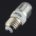 HZLED E27 4W 324LM 6000K 27-SMD 2835 LED White Light Bulb - White + Silver (AC 85-265V)