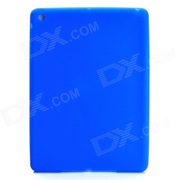 Protective Silicone Case for IPAD Air - Blue anti shock protective silicone back case w stand for ipad air blue