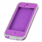 IPEGA CM01 Waterproof Protective Plastic Full Body Case for Iphone 5 / 5S - Grey + Purple