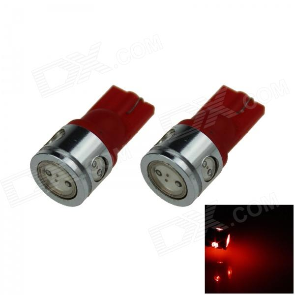 T10 / 194 / 168 / W5W 2.5W 180lm 4-LED Red Car Steering Light / Side / Head Lamp (12V / 2 PCS)