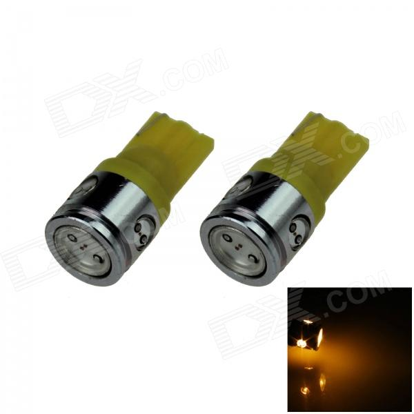 T10 / 194 / 168 / W5W 2.5W 180lm 4-LED Yellow Car Steering Light / Side / Head Lamp (12V / 2 PCS)