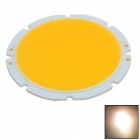 WaLangTing 20W 1600-1800lm 2800-3200K COB LED Warm White Round Light Sheets - Yellow(30~36V/2 PCS)