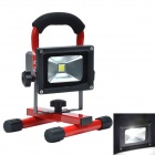 10W 900lm 4000-4500K 1-LED White Light Portable Emergency Floodlight - Red + Black