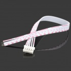 LSON 5pin MP3 Decoding Board Flat Cables - White + Red (10 PCS / 20cm)