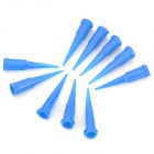 LSON 0.13mm Dispensing Needles / Nozzles - Deep Blue (10 PCS)