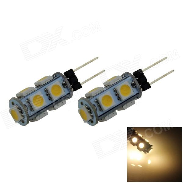 G4 1.8W 160lm 9 x SMD 5050 LED Warm White Light Car Instrument / Reading Lamp (DC 12V / 2 PCS)