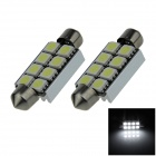 Canbus Festoon 41mm 2W 150lm 8 x SMD 5050 LED White Car Roof light / Reading Lamps (12V / 2 PCS)