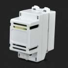 Wall Power Socket USB Charging Module - White