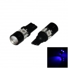 T10 / W5W 4W 300lm 4-5050 + 1-COB LED Blue Light Car Headlamp / Clearance / Side Lamp (12V/ 2 PCS)