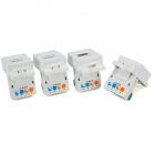 RJ11 Wall Socket Panels / Voice Modules w/ AMP Interface - White + Green (4 PCS)