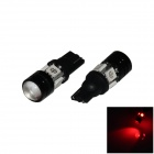 T10 / W5W 4W 300lm 4-5050 + 1-COB LED Red Light Car Farol / Apuramento / Side lâmpada (12V / 2 PCS)