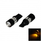 T10 / W5W 4W 300lm 4-5050 + 1-COB LED Yellow Light Car Farol / Apuramento / Side lâmpada (12V / 2 PCS)