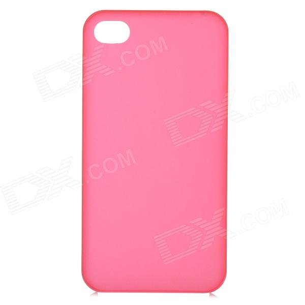 S-What 0.3mm Ultrathin Protective Frosted TPU Back Case for IPHONE 4 / 4S - Translucent Red