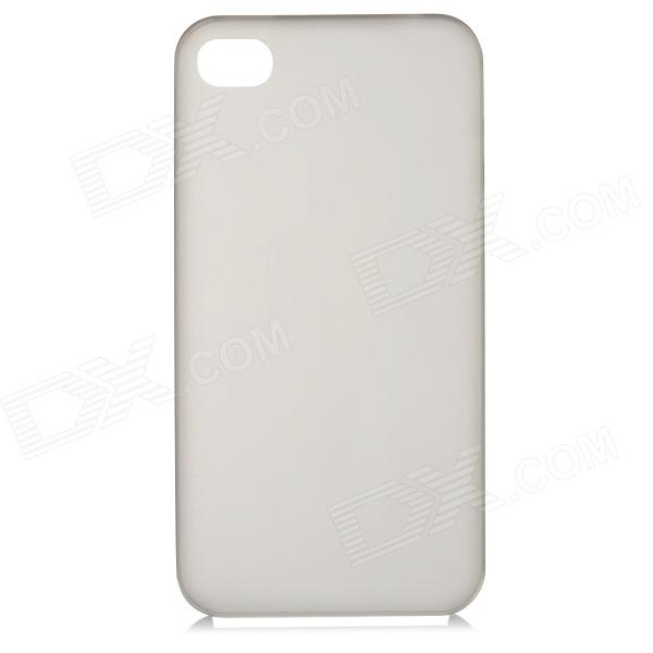 все цены на S-What 0.3mm Ultrathin Protective Frosted TPU Back Case for IPHONE 4 / 4S - Translucent Grey онлайн
