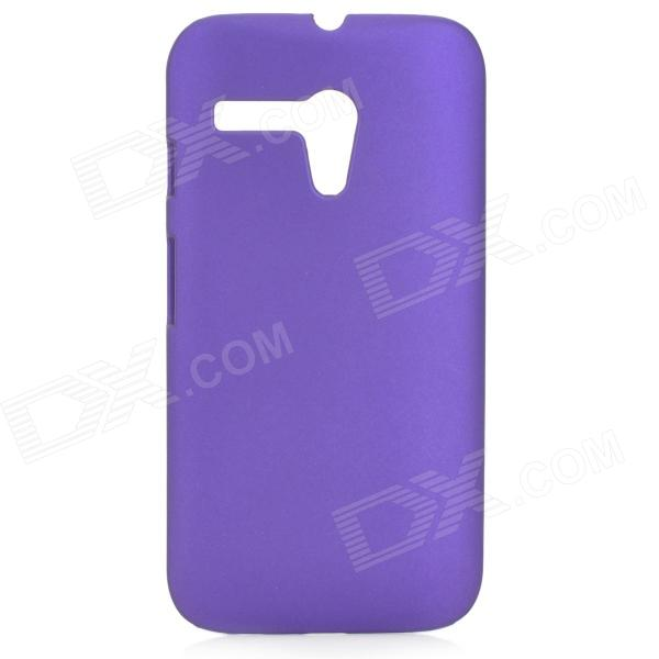 Protective Matte PC Back Case for MOTO G - Purple