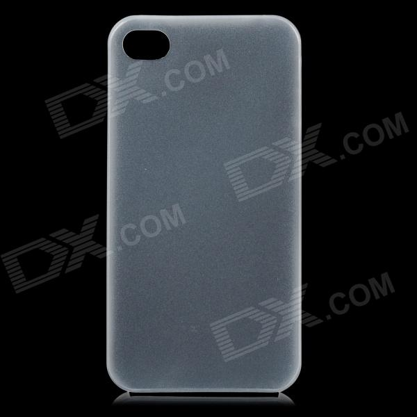 S-What 0.3mm Ultrathin Protective Frosted TPU Back Case for IPHONE 4 / 4S - Translucent White protective silicone case for nds lite translucent white