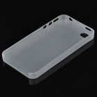 S-What 0.3mm Ultrathin Protective Frosted TPU Back Case for IPHONE 4 / 4S - Translucent White