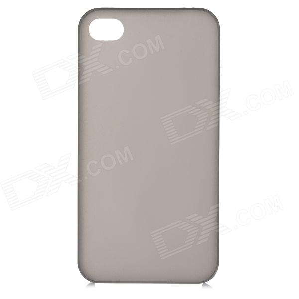 все цены на S-What 0.3mm Ultrathin Protective Frosted TPU Back Case for IPHONE 4 / 4S- Translucent Black онлайн